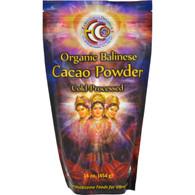 Earth Circle Organics Cacao Powder - Organic - Verified - Balinese Raw - 16 oz