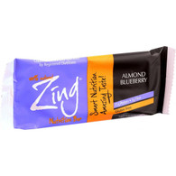 Zing Bars Nutrition Bar - Almond Blueberry - 1.76 oz Bars - Case of 12
