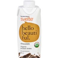 Svelte Protein Shake - Organic - Chocolate - 11 fl oz - Case of 8