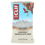 Clif Bar - Organic Coconut Chocolate Chip - Case of 12 - 2.4 oz