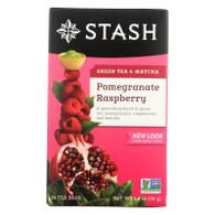 Stash Pomegranate Raspberry Green Tea with Matcha - 18 Tea Bags - Case of 6