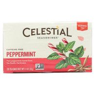 Celestial Seasonings Herb Tea Peppermint - 20 Tea Bags - Case of 6