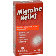 NatraBio Migraine Relief - 60 Tablets