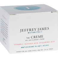 Jeffrey James Botanicals Facial Cream - The Creme - All Day and All Night - 2 oz