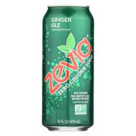 Zevia Soda - Zero Calorie - Ginger Ale - Tall Girls Can - 16 oz - case of 12