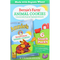 Annies Homegrown Animal Cookies - Organic - Bernies Farm - Snack Pack - 6/1 oz - case of 6