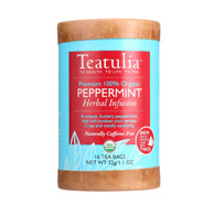 Teatulia Tea - Organic - Herbal - Peppermint - Eco-Canister - 16 bags - case of 6