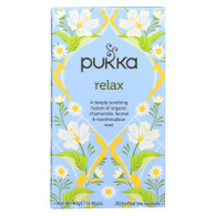 Pukka Herbal Teas Relax - Caffeine Free - 20 Bags