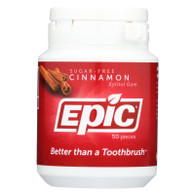 Epic Dental Cinnamon Gum - Xylitol Sweetened - 50 Count