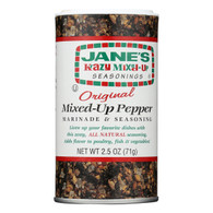 Jane's Krazy Mixed-Up Pepper Marinade and Seasoning - Original - Case of 12 - 2.5 oz.