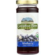 Cascadian Farm Fruit Spread - Organic - Blueberry - 10 oz - case of 6