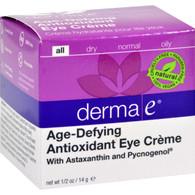 Derma E Age-Defying Eye Creme with Astaxanthin and Pycnogenol - 0.5 oz