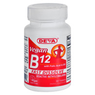 Deva Vegan B12 Sublingual - 90 Sublingual Tablets