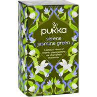 Pukka Herbal Teas Tea - Organic - Green - Serene Jasmine - 20 Bags - Case of 6