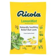 Ricola Herb Throat Drops Lemon Mint - 24 Drops - Case of 12