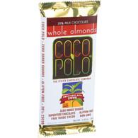 Coco Polo Chocolate Bar - 39 Percent Milk Almond - Case of 10 - 2.82 oz Bars