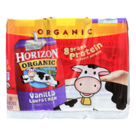 Horizon Organic Dairy Milk - Organic - 1 Percent - Lowfat - Box - Vanilla - 6/8 oz - case of 3
