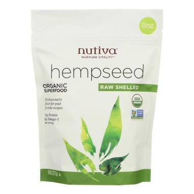 Nutiva Organic Hemp Seed - Raw Shelled - 8 oz