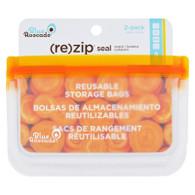 Blue Avocado Bag - Re-Zip - Snack - Orange - 2 Count