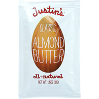 Justins Nut Butter Almond Butter - Classic - Squeeze Pack - 1.15 oz - case of 60