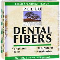 Peelu Dental Fibers Tooth Powder - Spearmint - .53 oz