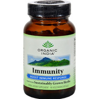 Organic India Immunity Boost Immune Response - 90 Vegetarian Capsules