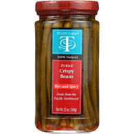 Tillen Farms Beans - Pickled - Hot and Spicy Crispy - 12 oz - case of 6