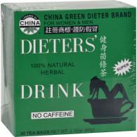 Uncle Lee's China Green Dieters Tea Caffeine Free - 30 Tea Bags