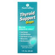 NatraBio Thyroid Support Formula - 1 fl oz