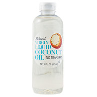 Roland Coconut Oil - Virgin Liquid - Case of 6 - 16 oz.