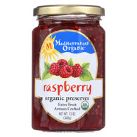 Mediterranean Organic Fruit Preserves - Organic - Raspberry - 13 oz - case of 12