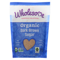 Wholesome Sweeteners Sugar - Organic - Dark Brown - 24 oz - case of 6