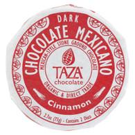 Taza Chocolate Organic Chocolate Mexicano Discs - 50 Percent Dark Chocolate - Cinnamon - 2.7 oz - Case of 12