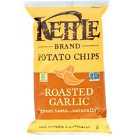 Kettle Brand Potato Chips - Roasted Garlic - 8.5 oz - case of 12