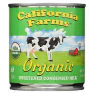 California Farms Condensed Milk - Organic - Sweetened - 14 oz - case of 24