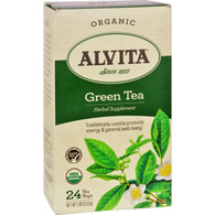 Alvita Organic Green Tea Herbal Supplement - 24 Tea Bags