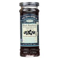 St Dalfour Fruit Spread - Deluxe - 100 Percent Fruit - Black Raspberry - 10 oz - Case of 6