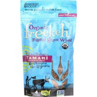Freekeh Foods Roasted Green Wheat - Organic - Freekeh - Ancient Grain - Tamari - 8 oz - case of 6