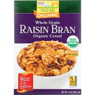 Field Day Cereal - Organic - Whole Grain - Raisin Bran - 14 oz - case of 10