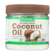 Tropical Plantation Organic Coconut Oil - Case of 1 - 24 Fl oz.