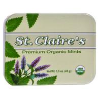 St Claire's Organic Premium Mints Display Case - Case of 6 - 1.5 oz