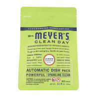 Mrs. Meyer's Automatic Dishwasher Packs - Lemon Verbena - Case of 6 - 12.7 oz