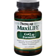 Twinlab MaxiLIFE CoQ10 Formula - 120 Capsules