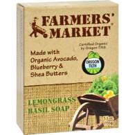 Farmer's Market Natural Bar Soap Lemongrass Basil - 5.5 oz