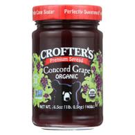 Crofters Fruit Spread - Organic - Premium - Concord Grape - 16.5 oz - case of 6