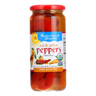 Mediterranean Organic Peppers - Organic - Fire Roasted - Red and Yellow - 16 oz - case of 12
