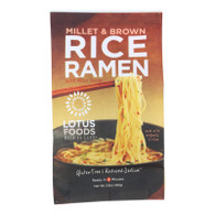 Lotus Foods Ramen - Organic - Millet and Brown Rice - with Miso Soup - 2.8 oz - case of 10