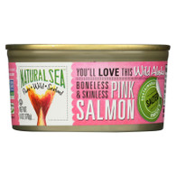 Natural Sea Skinless Boneless Pink Salmon - Salted - Case of 12 - 6 oz.
