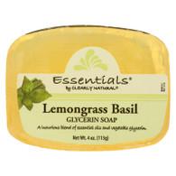 Clearly Natural Glycerin Bar Soap - Lemongrass Basil - 4 oz
