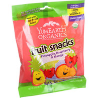YumEarth Organics Fruit Snacks - Pineapple Raspberry Mango - 2 oz - Case of 12